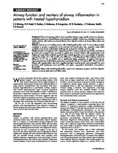 Airway function and markers of airway inflammation in patients ... - NCBI