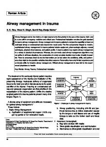 Airway management in trauma - CiteSeerX