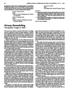 Airway Remodeling - ATS Journals