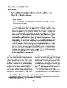 Airway Remodeling in Asthma and its Influence on Clinical ...