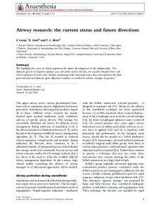 Airway research: the current status and future ... - Wiley Online Library