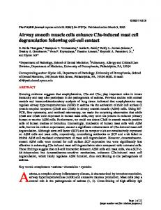 Airway smooth muscle cells enhance C3a ... - The FASEB Journal