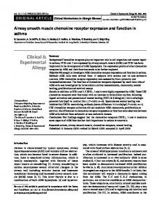 Airway smooth muscle chemokine receptor expression and function in ...