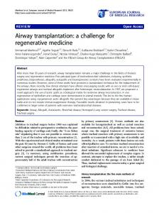Airway transplantation: a challenge for regenerative medicine