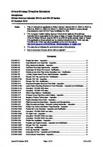 Airworthiness Directive Schedule - Civil Aviation Authority of New ...