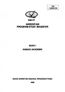 AKREDITASI PROGRAM STUDI MAGISTER BAN-PT