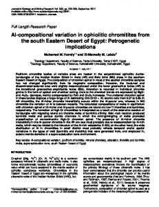 Al-compositional variation in ophiolitic chromitites ... - Academic Journals