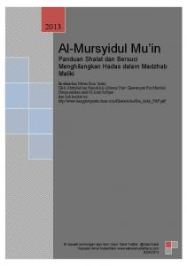 Al-Mursyidul Mu'in - Muwatta.com - The People of Madinah