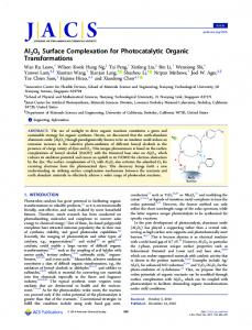 Al2O3 Surface Complexation for Photocatalytic ... - ACS Publications