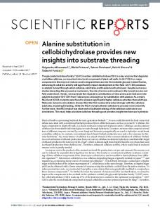 Alanine substitution in cellobiohydrolase provides new insights