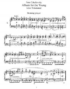 Album for the Young - free piano sheet @ ALL PIANO SCORES
