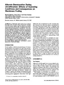 Albumin denaturation during ultrafiltration - Wiley Online Library