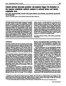 Albumin-derived advanced glycation end-products trigger the ... - NCBI
