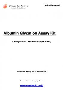 Albumin Glycation Assay Kit