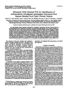 Alcaligenes - Journal of Clinical Microbiology - American Society for ...