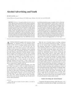 Alcohol Advertising and Youth - CiteSeerX