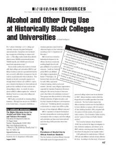 Alcohol and Other Drug Use at Historically Black Colleges - ERIC