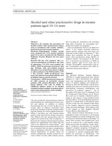 Alcohol and other psychoactive drugs in trauma ... - Europe PMC