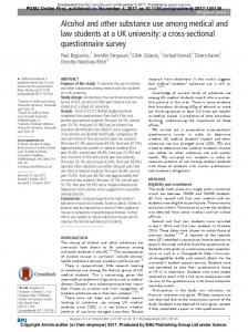 Alcohol and other substance use among medical and ...