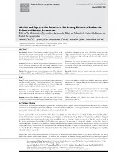 Alcohol and Psychoactive Substance Use Among ... - Semantic Scholar
