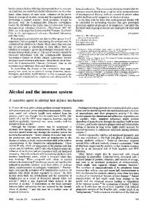 Alcohol and the immune system - Europe PMC