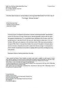 Alcohol and tobacco consumption among seamstresses ... - PePSIC