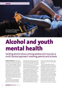 Alcohol and youth mental health