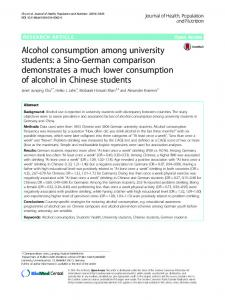 Alcohol consumption among university students - Bioline International
