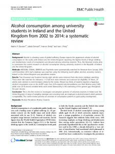 Alcohol consumption among university students in Ireland and the ...