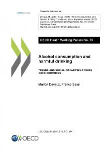 Alcohol consumption and harmful drinking - OECD iLibrary
