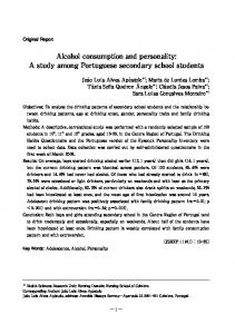 Alcohol consumption and personality: A study among ...
