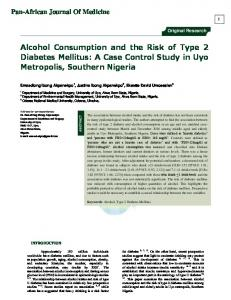 Alcohol Consumption and the Risk of Type 2 Diabetes ...