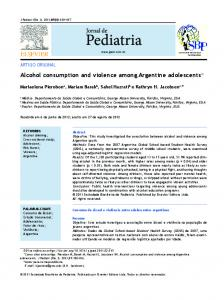 Alcohol consumption and violence among ... - Semantic Scholar