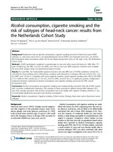 Alcohol consumption, cigarette smoking and the ... - Semantic Scholar