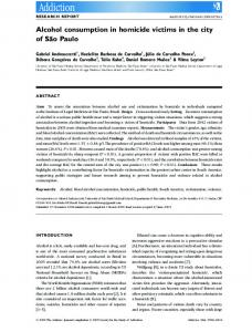Alcohol consumption in homicide victims in the ... - Wiley Online Library