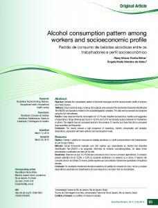 Alcohol consumption pattern among workers and ... - SciELO