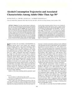 Alcohol-Consumption Trajectories and Associated Characteristics ...