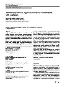 Alcohol cues increase cognitive impulsivity in individuals with alcoholism