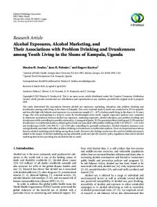Alcohol Exposures, Alcohol Marketing, and Their Associations with ...