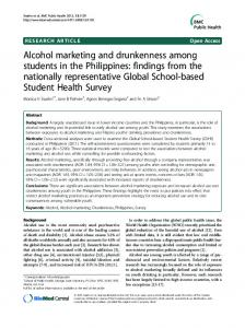 Alcohol marketing and drunkenness among ... - Semantic Scholar