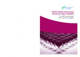 Alcohol Needs Assessment Research Project (ANARP)