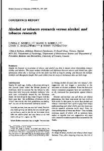 Alcohol or tobacco research versus alcohol and ... - Wiley Online Library