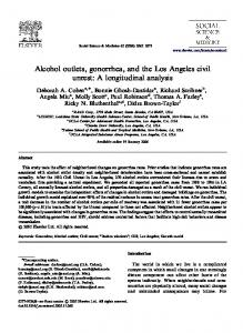 Alcohol outlets, gonorrhea, and the Los Angeles civil ... - cdrewu.edu