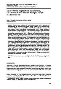 Alcohol Outlets, Neighborhood Characteristics, and ... - BioMedSearch