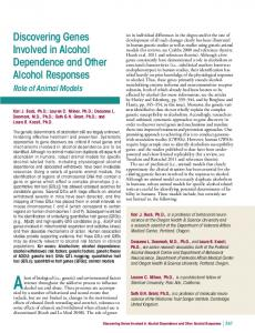 Alcohol Research: Current Reviews - National Institute on Alcohol