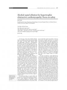 Alcohol septal ablation for hypertrophic obstructive cardiomyopathy ...