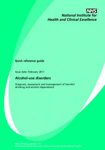 Alcohol-use disorders - Alcohol Learning Centre