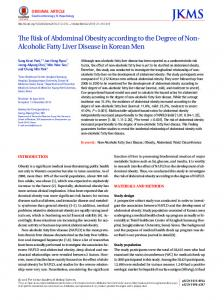 Alcoholic Fatty Liver Disease in Korean Men - Journal of Korean ...