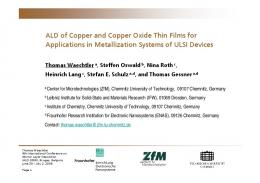 ALD of Copper and Copper Oxide Thin Films for ...