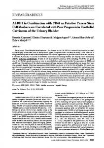 ALDH1 in Combination with CD44 as Putative Cancer Stem Cell ...